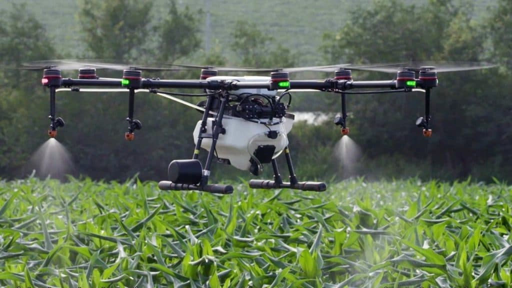 agriculture drone spraying crops
