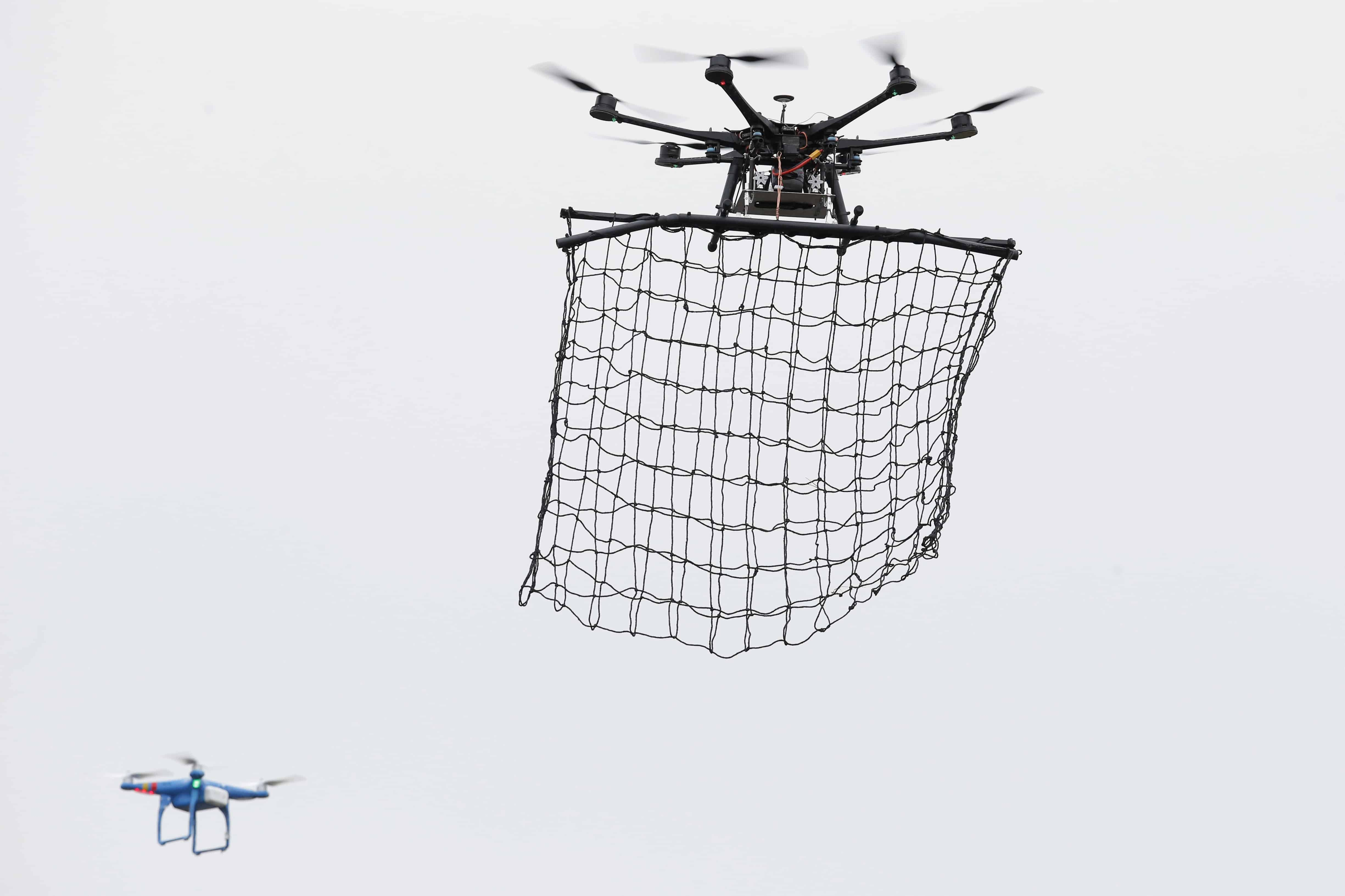drone mitigation solutions capturing by net