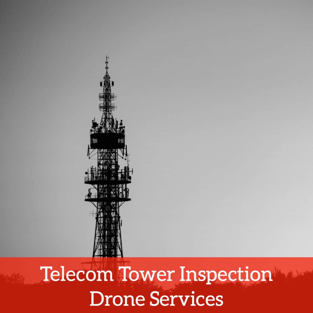 Telecom tower inspection drone services