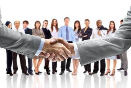 drone partnership handshake