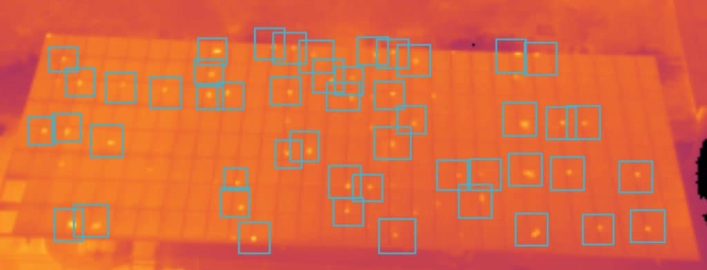 Raptor Maps Software Used To identify Solar Cell Defects Using Image collected by Drone